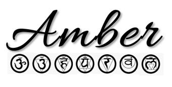 amber chakras black