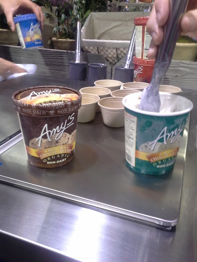 natrual products expo west review - amy's dairy free ice cream