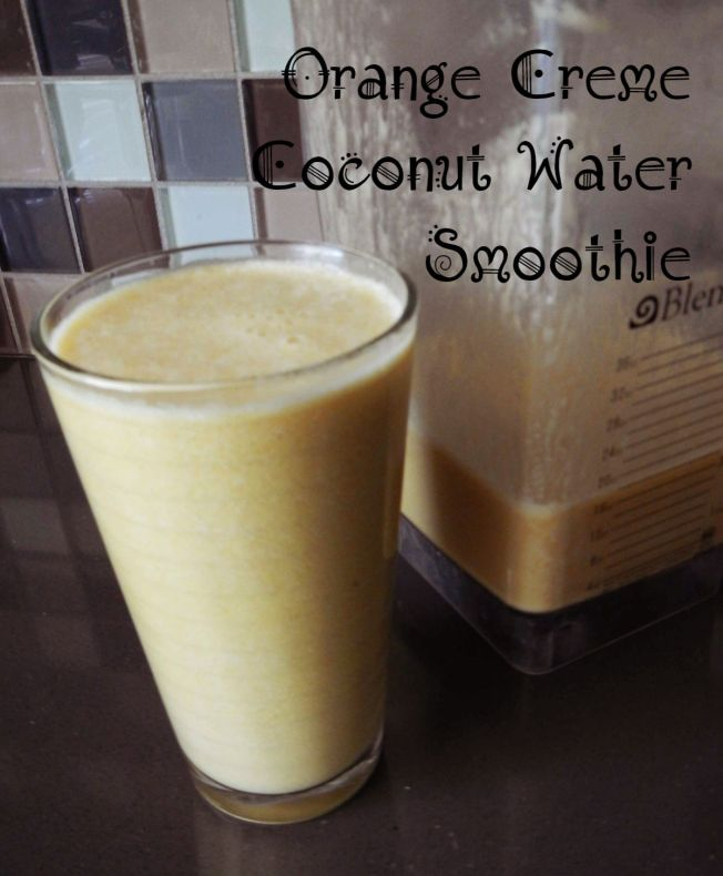 Vegan Orange Creme Coconut Water Protein Smoothie