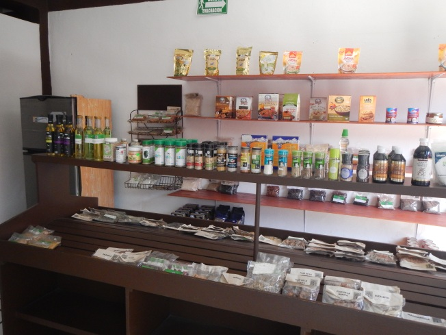 some of the items at the Organic Shop